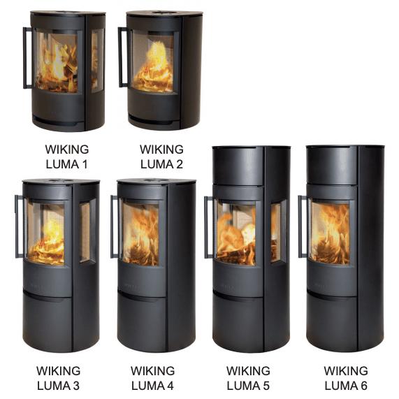 reservedele til Wiking Luma seriens brændeovne