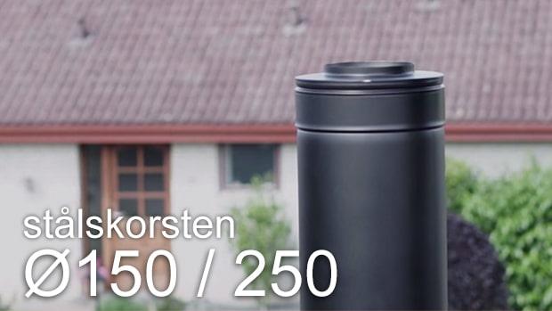 Stålskorsten diameter 150/250 - køb online hos Pejseringen